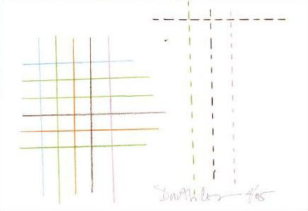 Dorothy Cosonas's original illustration for KnollTextiles' Cross Stitch.