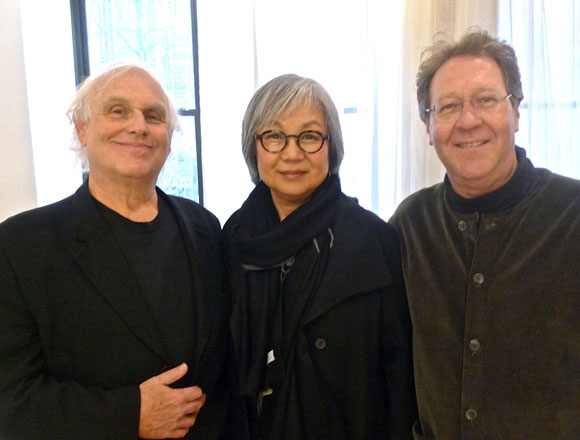 Steven Diskin, Chairperson of Industrial Design at Pratt; Myonggi Sul, professor of interior design at Pratt; and Peter Barna, provost of Pratt.