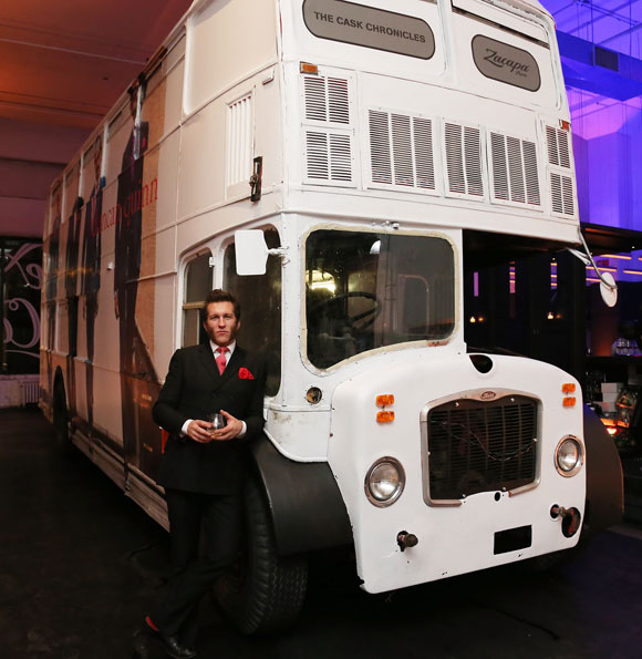 Duncan Quinn in front of his mobile boutique.