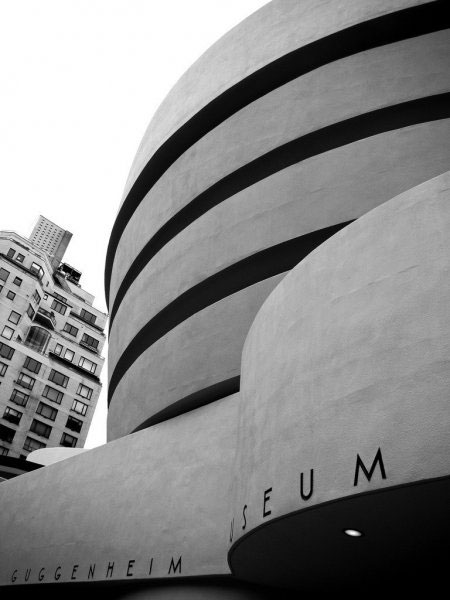 The Solomon R. Guggenheim Museum, built in the late 1950s. Courtesy of Flickr.