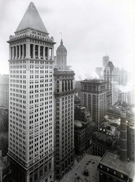 BANKERS TRUST BUIILDING, New York City, ca. 1912, by Trowbridge & Livingston. Collection of the New-York Historical Society.