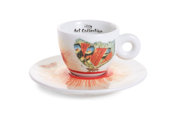 A cup by Kiki Smith for Illy Art Collection.