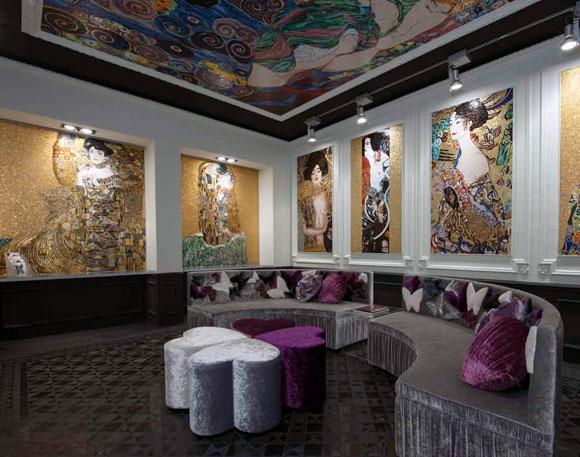 Phòng theo chủ đề của Gustav Klimt kỷ niệm 150 năm ngày sinh của họa sĩ.